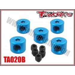 TA020B Bague d'arrêt de 2 mm bleues (5)