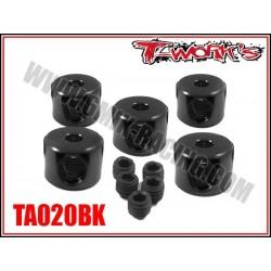TA020BK Bague d'arrêt de 2 mm noires (5)