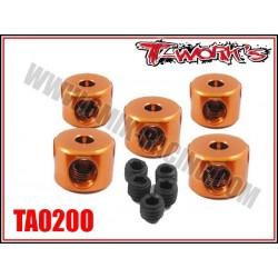 TA020O Bague d'arrêt de 2 mm oranges (5)
