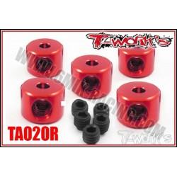 TA020R Bague d'arrêt de 2 mm rouges (5)