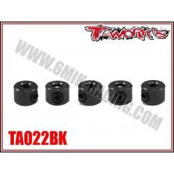 TA022BK Bague d'arrêt de 3 mm noires (5)