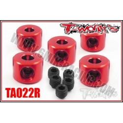 TA022R Bague d'arrêt de 3 mm rouges (5)