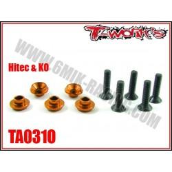 TA031O Rondelles alu de servo Hitech / Ko oranges (5)