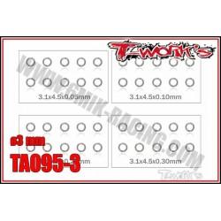 TA095-3 Set de rondelles M3 (10x4 tailles)