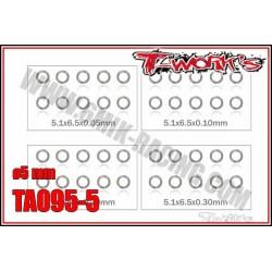 TA095-5 Set de rondelles M5 (10x4 tailles)