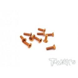TASS310FO Vis alu 3x10 tête fraisée orange (10)