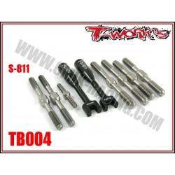 TB004 Kit de pas inverses en titane pour SERPENT S811