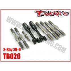 TB026 Kit de pas inverses en titane pour XB-9