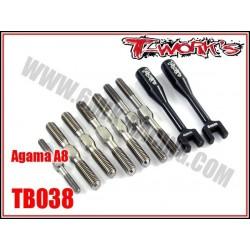TB038 Kit de pas inverses en titane pour AGAMA A8
