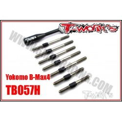 TB057H Kit de pas inverses titane HYBRID - YOKOMO B-MAX4