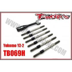 TB069H Kit de pas inverses titane HYBRID - YOKOMO YZ-2