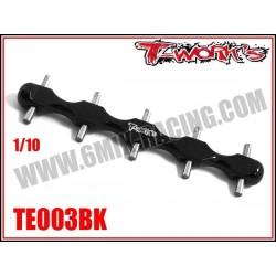 TE003BK Support de pignon moteur 1/10 Noir