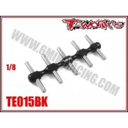 TE015BK Support de pignon moteur 1/8 Noir
