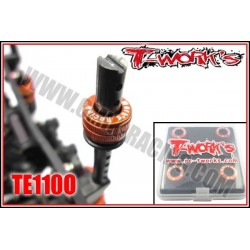 TE110O Supports de carrosserie 1/10 réglable en alu orange (4)