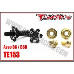 TE153 Axes de roues avant en ergal pour B6/B6D