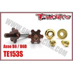 TE153S Axes de roues avant en acier pour B6/B6D