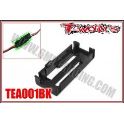 TEA001BK Fixation «Sécurit» pour prise BEC (noir)