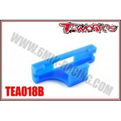 TEA018B Fixation «Sécurit» pour prise de servo (bleu)