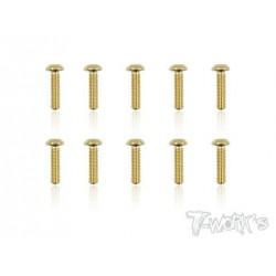 TGSS-312B Vis acier nitride Gold 3x12 mm bombées (10)