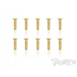 TGSS-312F Vis acier nitride Gold 3x12 mm fraisées (10)