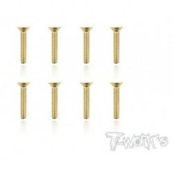 TGSS-316C Vis acier nitride Gold 3x16 mm cylindriques (8)