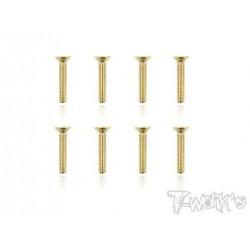 TGSS-316F Vis acier nitride Gold 3x16 mm fraisées (8)
