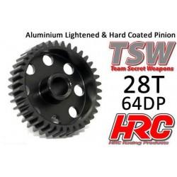 HRC76428AL Pignon - 64DP - Aluminium - TSW Pro Racing – Léger – 28D