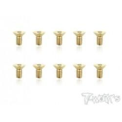 TGSS-408F Vis acier nitride Gold 4x8 mm fraisées (10)