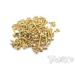 TGSS-EB410 Kit de vis Nitride Gold complet pour Tekno EB-410 (126)