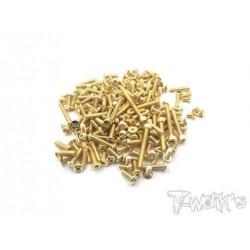 TGSS-ET483 Kit de vis Nitride Gold complet pour Tekno ET48.3 (159)