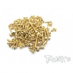 TGSS-MBX8 Kit de vis Nitride Gold complet pour Mugen MBX8 (197)