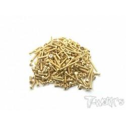 TGSS-RC8B3 Kit de vis Nitride Gold complet pour Asso RC8 B3 (156)