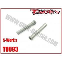 TO093 Colonettes de direction en ergal pour S-WORK'S