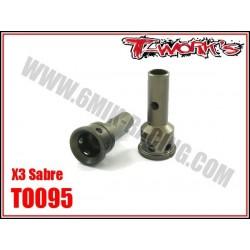 TO095 Axes de roue en ergal pour X3 (2)