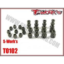 TO102 Boules en ergal pour S-WORK'S (le kit de 22 pcs)