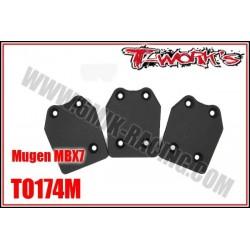 TO174M Sabot de protection de chassis pour MBX-7 (3 pcs)