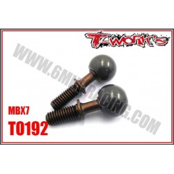 TO192 Axes acier + boules alu avant pour MBX-7 (2)