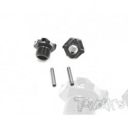 TO245M1 Hexagones de roues allégés +1mm pour MBX8 (4)