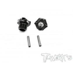 TO245M2 Hexagones de roues allégés +2mm pour MBX8 (4)
