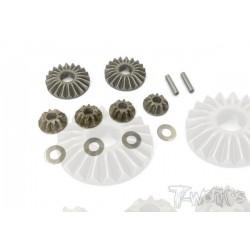TO250K Pignons de diff acier pour MP9 (kit)