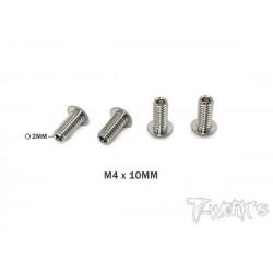 TP087B Vis de butée hautes en titane M4x10 mm (4)