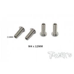 TP087D Vis de butée hautes en titane M4x12 mm (4)