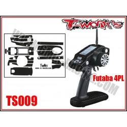 TS009 Stickers 3D carbone pour Futaba 4PL