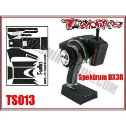 TS013 Stickers 3D carbone pour Spektrum DX3R