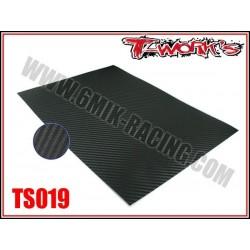 TS019 Sticker 3D carbone à découper