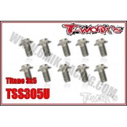 TSS305U Vis titane 3x5 tête UFO (10)
