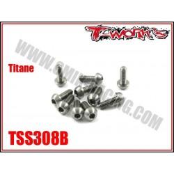TSS308B Vis titane 3x8 tête bombée (10)