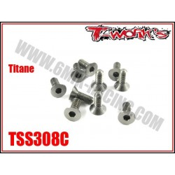 TSS308C Vis titane 3x8 tête fraisée (10)