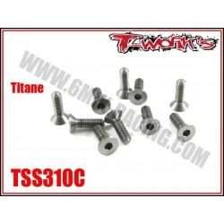TSS310C Vis titane 3x10 tête fraisée (10)