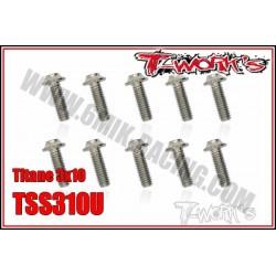 TSS310U Vis titane 3x10 tête UFO (10)